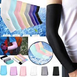 Wholesale Hicool Cooling Sleeves Unisex Sports Sun Block Anti UV Protection Sleeves Driving Arm Sleeve Cooling Sleeve Covers pair BBA355