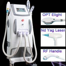 Discount ipl laser hair removal machine used - OPT Elight SHR IPL Super Hair Removal Q Switch Nd Yag Laser Tattoo Removal RF Skin Rejuvenation Machine For Salon Clinic