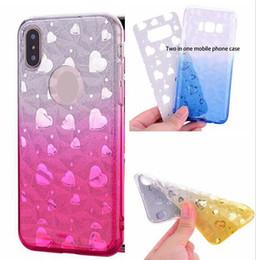 $enCountryForm.capitalKeyWord NZ - 2 in 1 Bling Diamond TPU Soft Case For Iphone X XR XS Max 8 7 6 6S Plus Huawei Enjoy 7S 7C P20 Lite Pro Y5 Y9 2018 Sticker Glitter Cover