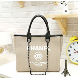 Wholesale 2018 Fashion Shoulder Bags Brand Designer Handbags Hot Sale Women Casual Canvas Shoulder Bag Chains of Large Capacity Bag Color Avaliable