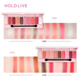 living shadow Australia - HOLD LIVE Eye Shadow Palette 10 colors Matte Shimmer Professional Makeup Pallete Cherry Eyeshadow Korea Cosmetics