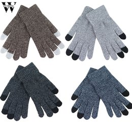 WOMAIL Frauen Männer Multifunktions Gestrickte Bildschirm Winter Handschuhe Weiche Warme Handschuh für iPhone Smartphones Laptop Tablet d18w30