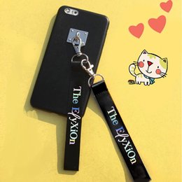 $enCountryForm.capitalKeyWord Canada - KPOP EXO Laser Lanyard Key Chain Key Strap Laser Name Cellphone Strap SEHUN CHANYEOL Ribbon Keyring