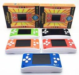 Gift Gb Canada - RS-1 Handheld Game Consoles Mini Protable Game Players Color Video Game Children Gifts Classic Games Box Also Sale PXP3 PVP GB NES SFC Games