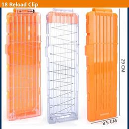 Nerf Guns Wholesale Australia - Universal 18 Reload Clip Magazines Gun Bullet Clip Replacement Plastic Magazines Toy Gun Soft Bullet Clip for Nerf