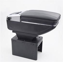 $enCountryForm.capitalKeyWord NZ - Universal Black PU Leather Car Seat Center Box Armrest With Cup Holder Console Storage Organizer New