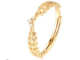 New weddiNg riNg for aNNiversary online shopping - Luxury jewelry gold color wedding rings silver open rings for women new fashion free of shipping