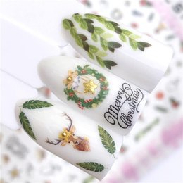 Christmas Gift Nails Australia - 1 PC Christmas Gift Fall Autumn Sea Designs Nail Art Stickers 3D Adhesive Decoration Manicure Decor Decals Foils
