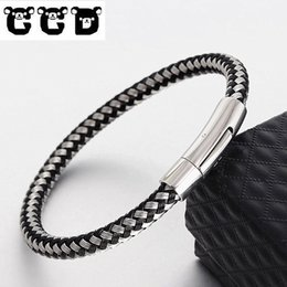 Hope jewelry sets online shopping - CCD Hot Sale Braid high quality Bracelet Men Women Charm Bangle Stainless Steel Magnet Buckle Hope Fashion Jewelry GIFT dropship