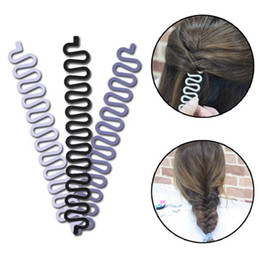Wholesale 2018 Beauty Lady Fashion French Hair Braiding Fish Bond Weave Braid Roller with Hair Twist Styling Bun Maker DIY Band Tools