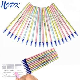 $enCountryForm.capitalKeyWord NZ - 20pcs set Erasable Pen Refill Writing Rods for Handles 0.5mm Blue Black Ink Magic Erasable Gel Pen Refill School Office Supplies