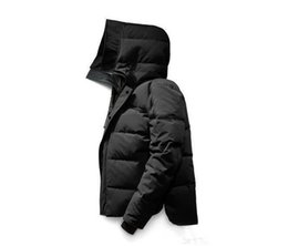 Navy wiNter hats online shopping - Designer Jackets down parkas men Canada New Arrival Sale Men s Guse Chateau Black Navy Gray Down Jacket Winter Coat Parka Sale With Outlet