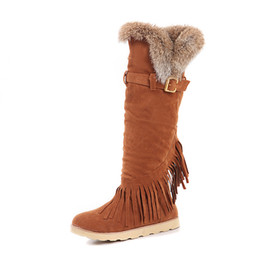 $enCountryForm.capitalKeyWord UK - Flat with high boots round tassels frosted casual snow shoes large size platform fur boots above the knee warm winter boots. XZ-102