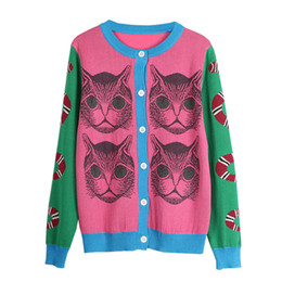 2018 Spring Knitting Snake Cat Pattern Novelty Jumper Lady Top pull sueter  mujer Sweater Runway Design Knit Cardigan Sweater 8fedb9e44