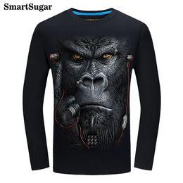 27314157 Autumn 3D T Shirt Monkey T Shirt 100% Cotton Black Blue T-Shirt Homme Spain  Streetwear 3D Print Tee Shirts Hip Hop Tshirts Mens