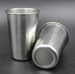 $enCountryForm.capitalKeyWord NZ - 500ML Stainless Steel Cups 16 Oz Pint Cups Water Tumblers Stackable and Unbreakable Drinking Cups Free Shipping SN1058