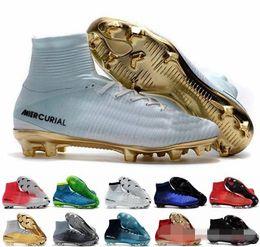 Discount boys cristiano ronaldo shoes - Mens Kids Soccer Shoes Mercurial CR7 Superfly V FG Boys Football Boots Magista Obra 2 Women Soccer Cleats Cristiano Rona