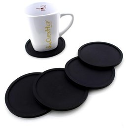 Round Kitchen Sets Australia - 20 pcs set Wholesale Silicone Drink Coaster Placemats For Table Mats For Dinner Table Placemat Silicone Cup Pads Set Kitchen