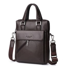 male laptop bags 2019 - Genuine Leather Briefcase Men Shoulder Bag Business Messenger Bag Male Crossbody bags for men Office iPad Handbags Lapto