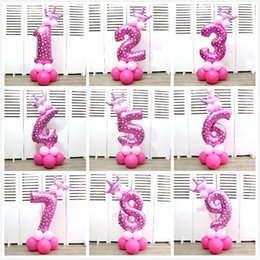 Foil crowns online shopping - Crown Number Foil Balloon Inch Number Children Birthday Party Baby Full Moon Arrangement Decorate Tools Aluminum Film Balloons tk gg