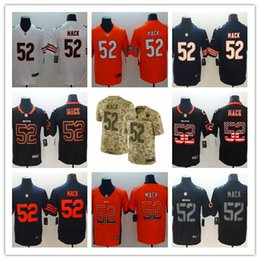 2018-2019 New Men 52 Khalil Mack Chicago Bears Football Jersey 100% Stitched  Embroidery Khalil Mack Color Rush Football Stitching Jerseys 24561817c