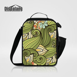 unique bags for school Canada - Abstract Flower Lunch Bags For Teenagers Girls Cool Food Lunch Bag Box For School Thermal Insulated Lancheira Children Unique Lunch Cooler