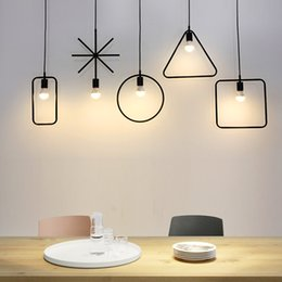 under clothing 2018 - Pendant Lights loft bar platform creative Pendant Lamp E27 polygon clothing store American Village North European retro
