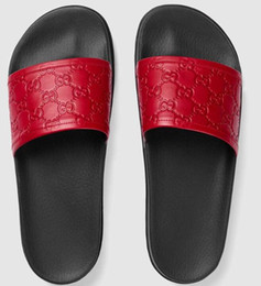 b1ed96871b27 Men Thong Sandal Australia - 2019 Men red Signature slide sandal Slippers  Casual Handmade Walking Tennis