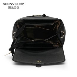 Wholesale- SUNNY SHOP Preppy Style School Backpack 2 Different Sizes Lovers  Backpack Fashion Unisex Le ather Backpack School Bags Teenagers 66b201b383266