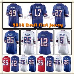 Buffalo Bill Men s 17Josh Allen 25 LeSean McCoy 49 Tremaine Edmunds 95  WILLIAMS 12 Jim Kelly 99 Marcell Dareus 14 Sammy Watkins Jerseys 49f93e536