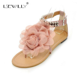 $enCountryForm.capitalKeyWord Canada - Lsewilly Gladiator Sandals for Women Bohemia Beaded Summer Flower Flat Heels Flip Flops Women's Shoes Tstraps Sandals 34-43 S004