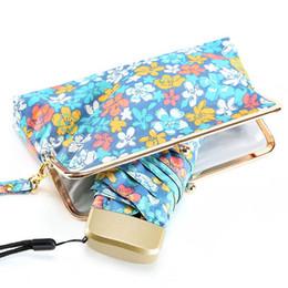 $enCountryForm.capitalKeyWord UK - Japanese Flower Pattern Package Mini Quality Sunny Rainy Fashion Creative Folding Umbrella Women Female With Exquisite Bag