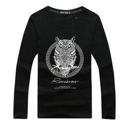 Discount long sleeved black t shirt men - Brand 2018 Autumn Men Long Sleeve t shirt Tracksuit Men Long-Sleeved T-Shirt Men O-neck fashion Printed Q01