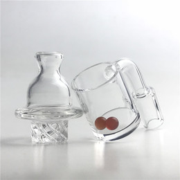 Ruby top online shopping - New GTR Bubble Spinning Quartz Banger Carb Cap Nail with mm XL Flat Top Thick Bottom Domeless Nails mm Ruby Terp Pearl