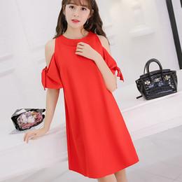 85d4549f5a05 Estate donna abbigliamento bodycon coreano scava fuori lace-up manica corta  moda abito rosso ragazza vestidos