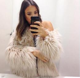 White Short Sleeve Faux Fur Australia - 2018 new white faux coats and jacket for women long sleeve fashion elegant female autumn winter outwear fuffly fake fur coat S112