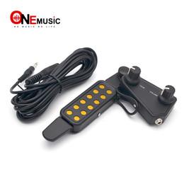 $enCountryForm.capitalKeyWord Australia - Acoustic Guitar 12 Sound Hole Pickup Tone Volume knob With 3.5 to 6.5 Cable Black