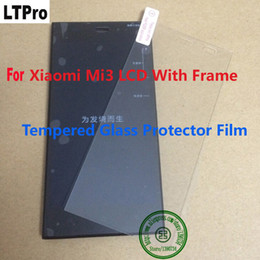 Best Lcd Glasses Australia - LTPro Best Working Sensor LCD Display Touch Screen Digitizer Assembly + Frame For Xiaomi 3 M3 Mi3 WCDMA+Tempered Glass Film