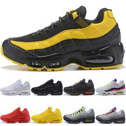 finest selection 68df2 98374 Nike Air Max 95 Airmax 95 Mens Frauen Laufschuhe Frequenz Triple Schwarz  Weiß SE Gelb ERDL Party OG Neon Traube Günstige Männer Laufen Sport Sneaker  Größe ...