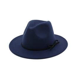 79352f8454a Autumn Winter Mens Hats Panama Fedora Vintage Women Girls Felt Fedoras Flat  Brim Jazz Fascinator Hat with Bowknot