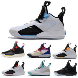 Cheap Boys Canvas Shoes Australia - 2018 New Arrive Jumpman XXXIII 33 Boys Mens Basketball Shoes Cheap Sale Top Quality 33s Multicolors Black Blue Yellow Trainers Sneakers