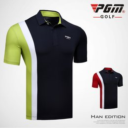 Quick Dry Shirts For Men Australia - PGM Golf T-shirt For Men Quick Dry 2018 New Turn-down Collar Men's Sports Golf Trainning T-shirt Breathable Brand Polo Shirt