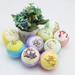 Bath Body oils online shopping - Two color Dry Flower Deep Sea Salt Bubble Bath Pump Ball Natural Oil Body Clean Skin Smooth