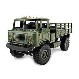 Diy Toys Truck Car Canada - Wpl B -24 Gaz -66 Diy 1 :16 Rc Climbing Military Truck Mini 2 .4g 4wd Off -Road Rc Cars Off -Road Racing Car Rc Vehicles Rtr Gift Toy