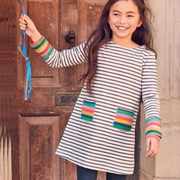 e02138b0 Baby Clothes Printing NZ - Girls Christmas Casual Dresses Cotton Striped  Cartoon Appliqued Flowers Printed Jersey
