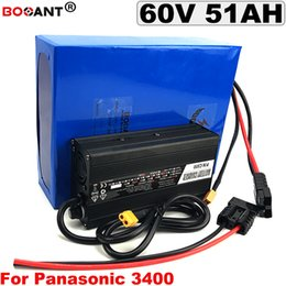 Motor Bicycles Australia - For Bafang 3000W Motor 60V 50AH E-Bike Lithium Battery pack for Panasonic 18650 cell Electric Bicycle Battery 60V +5A Charger