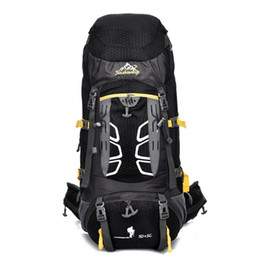 China Large Capacity 55L Outdoor Backpack Hiking Bag Camping Travel Waterproof Pack Mountaineering Travel Bag Climbing Sports cheap large camping backpacks suppliers