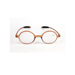 ebeb452cad Gafas de lectura retro Moda lente de resina redonda Gafas Mujeres Hombres  Lector de ojo de aumento Marrón Marco de plástico completo + 1.0 ~ + 4.0  peso ...
