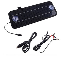 Solar panel for car charger online shopping - BUHESHUI Hot V W Solar Panel Portable Monocrystalline Solar Charger Module For Car Automobile Boat Rechargeable Power Battery