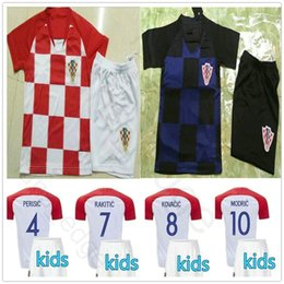 d64f392cc6a Kids Soccer Jersey MODRIC PERISIC RAKITIC MANDZUKIC SRNA KOVACIC Customize  Man Youth 2018 World Cup Hrvatska Football Shirt
